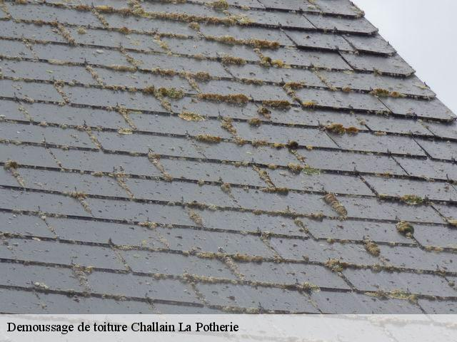 Demoussage de toiture  challain-la-potherie-49440